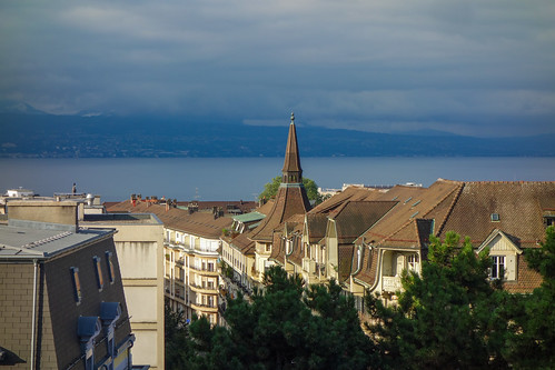 View of Lake Geneva from Lausanne