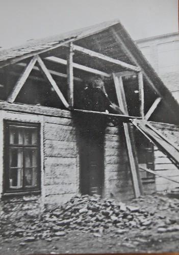 Dawne zabudowania na terenie szkoły