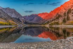 Sunrise Reflection (Fred Moore 1947) Tags: california reflection sunrise landscape fallcolors easternsierras lundylake