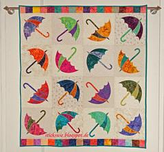 Regenschirme (sticksuse) Tags: umbrella quilt dancing regenschirm stippling quilten tanzenderegenschirme