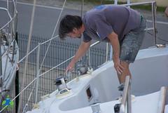 Finition de la peinture de pont