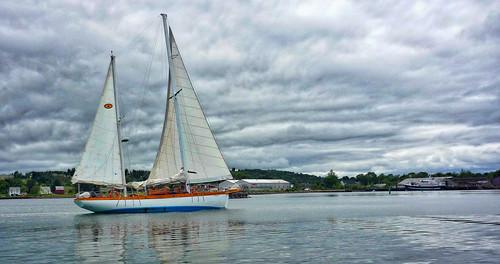 water sailboat novascotia hdr lunenburg