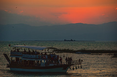 Yacht tour (Melissa Maples) Tags: sunset lake mountains water turkey evening boat nikon asia ship sundown dusk trkiye nikkor vr afs  18200mm  f3556g  beyehir 18200mmf3556g d5100