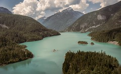 A Certain Shade of Green, Diablo Lake, WA (BeyondThePrism) Tags: world above blue trees red sky usa mountain lake mountains tree green water beautiful beauty clouds america landscape washington nikon focus
