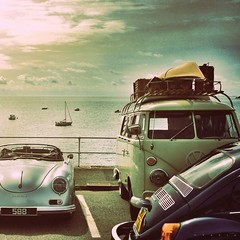 Aircooled by the sea - Day 254 (CY2010) Tags: sea bus classic vw clouds volkswagen kayak beetle retro porsche camper kombi speedster chesil bulli splitscreen 356 kafer cy2010