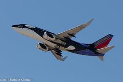 Southwest Airlines Boeing 737 - N713SW-2044 (rob-the-org) Tags: iso100 noflash 300mm cropped boeing f11 shamu 737 southwestairlines terminal4 phx phoenixaz kphx n713sw 1160sec skyharborinternational ef70300mmf456lisusm parkingp8
