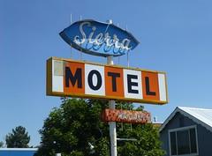 SIERRA MOTEL CHESTER CA. (ussiwojima) Tags: california sign advertising neon motel chester sierramotel