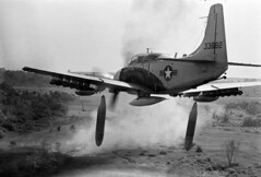 1964 - Vietnam War Bombing Run (manhhai) Tags: southeastasia aviation military combat propeller weapons ordnance vnm
