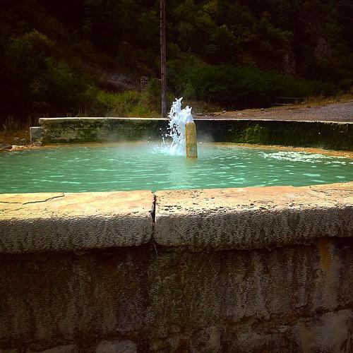 Hot mineral water near #Karvachar town at #Artsakh or Nagorno #Karabakh. Temperature is almost 80celsius. #BeardRaid #oldSchool #trip