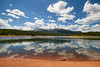 Stick (Universal Stopping Point) Tags: lake mountains reflection clouds forest colorado reservoir coloradosprings pikespeak