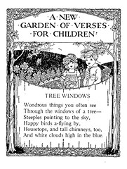 Over the gate illustrated by B. (katinthecupboard) Tags: artnouveau 1925 vintagechildrensillustrations vintagechildrenspoetry