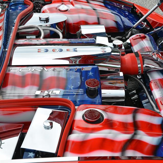 chevrolet classiccar engine americanflag chevy corvette usflag 1998chevroletcorvette