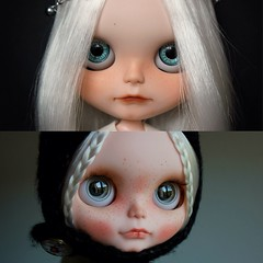 Evangélina before and after. ❤❤❤❤❤❤❤❤❤❤❤❤   Antes y después de Evangélina,