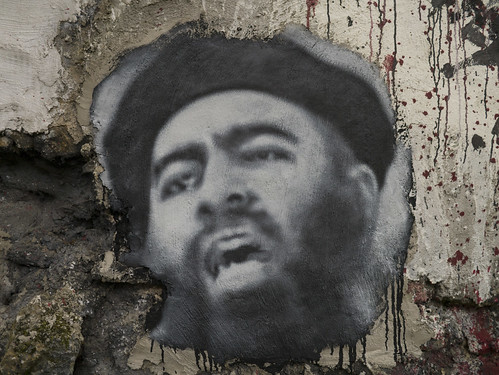 From flickr.com: Abu Bakr al Baghdadi, painted portrait {MID-220059}