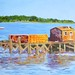 "Late Afternoon by the Docks - 24"" x 36"" - Oil- sold"