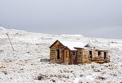 Bodie Cabin (stephencurtin) Tags: california park wood usa snow cabin state structure snowing bodie thechallengefactory