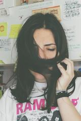 Teenage wasteland. (Micha Andrisani) Tags: girl tattoo canon hair eos grunge teen micha ramones indie hip eyesclosed teenage wasteland tattoedgirl