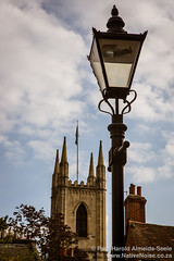 Cathedral & Lamp Post in Windsor, England