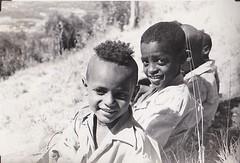 Boys of Ethiopa 1953 (Bury Gardener) Tags: ethiopia africa 1950s 1953 bw blackandwhite oldies old snaps people