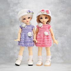 Alice-Jane and Knopa (Maram Banu) Tags: doll bjd fairyland littlefee lishe ante spring purple pink handmade outfit fairystyle marambanu