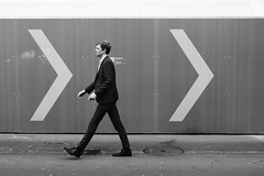 Wrong Direction (Ivan Rigamonti) Tags: monochrome streetphotography man walking