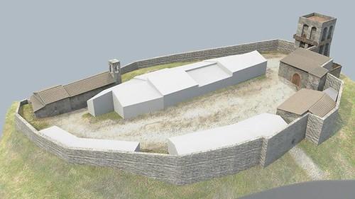 ricostruzione virtuale castello dicontignano 02