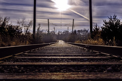 Got Lost (patkelley3) Tags: train traintracks tracks sunset sun sky ground