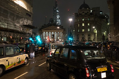 12/365 - #BankJunction (Spannarama) Tags: january 365 taxis cabs blackcabs londontaxi protest bank bankjunction night evening lowlight snow sleet wet london uk