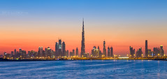 _MG_8535_web - Dubai skyline over Dubai Creek (AlexDROP) Tags: 2017 uae emirates dubai travel tower panoramic architecture color city urban light night scape bluehour canon6d ef241054lis best iconic famous mustsee picturesque postcard