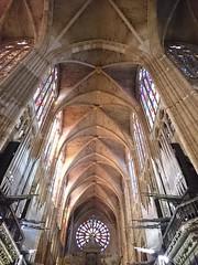 Nave central de la Catedral de León (Hesperetusa) Tags: bóvedadecrucería vidrieras sigloxiii góticoclásico arquitecturagótica león