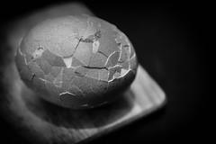 Cracked (JDWCurtis) Tags: eggs egg cracked shell crackedshell eggshell macro eggmacro blackwhite bw