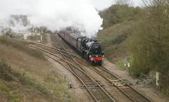 Hawkeridge Junction, Westbury, Wiltshire (wiltssignal) Tags: hawkeridgejunction westbury wiltshire 45407 black5 1z92