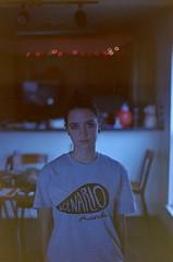 Self II (zoe.hedquist) Tags: portrait people film 35mm 50mm f14 grain sigma konica process kodakfilm colorfilm konicaft1 konicaft1motor kodakfilms konicafilms
