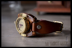 ~::Olive::~ Steampunk watch, handcrafted (Rodin van Lieshout) Tags: wood clock design watches designer handmade ooak watch olive copper wrist wristwatch brass clocks steampunk bespoke