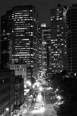 Lower Manhattan Street B&W (SamuelWalters74) Tags: newyorkcity manhattan financialdistrict brooklynbridge lowermanhattan