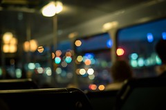 Inside the bus - 巴士内的色彩斑斓 (tangenning) Tags: colour bus night 50mm takumar seats inside sonya7