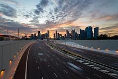 Comfortably Numb (MachBot) Tags: sunset marina singapore coastal expressway 1022mm dri 1022 mce blending 650d t4i mbfc marinabayfinancialcentre