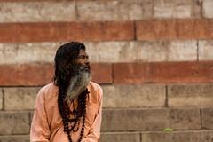 Sadhu in Varanasi (DaevidJ) Tags: india varanasi spiritual hindu ganga sadhu holyman ganges holycity
