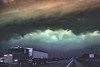 Trucking in the Darkness (Chains of Pace) Tags: road storm oklahoma clouds rural landscape unitedstates perspective panhandle oldwest guymon cloudsstormssunsetssunrises