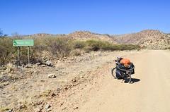 The steep Boshua pass, C28 (jbdodane) Tags: c28 africa bicycle boshuapass bosuapass cycletouring cycling cyclotourisme day586 gravel mountains namibia road sign velo freewheelycom jbcyclingafrica