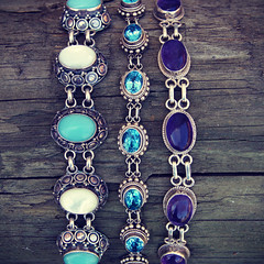 Gemstone Bracelets (word_of_mouth_jewels) Tags: blue silver turquoise jewelry jewellery bracelet bracelets sterling amethyst jewels mop gems gem jewel topaz gemstones motherofpearl gemstone sterlingsilver bluetopaz finejewelry finejewellery gemstonejewellery suarti