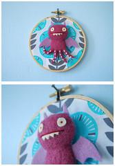 Octo Ice-Bat (for Uglycon 2014) (hine) Tags: art giantrobot toy handmade craft plush uglydoll icebat uglycon hinemizushima