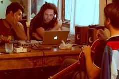 Grabación del EP de Primer Vuelo con Javier Herrlein - Foto de Azcazuri