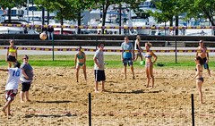 2014-07-04 BBV Hat Draw Tournament (86) (cmfgu) Tags: holiday net beach sports ball court md sand outdoor 4th july maryland baltimore tournament bikini volleyball coed athlete fourth independenceday league 4s innerharbor fours bbv rashfield hatdraw