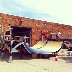 """The traveling #GoatRamp is a thing of genius. • <a style=""""font-size:0.8em;"""" href=""""http://www.flickr.com/photos/99295536@N00/14421191385/"""" target=""""_blank"""">View on Flickr</a>"""