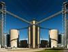 Ivesdale (Tau Zero) Tags: illinois elevator bluesky flip grainelevator digitalmirror ivesdale
