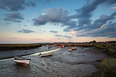 Morston Quay (Matthew Dartford) Tags: uk england panorama wet clouds boats evening coast sailing norfolk quay coastal goldenhour tse settingsun broads marshes norfolkbroads morston