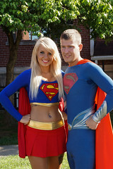 2014 Superman Celebration (mikes-photomemories) Tags: celebrity june statue illinois cosplay superman wonderwoman batman metropolis supergirl superheroes thor