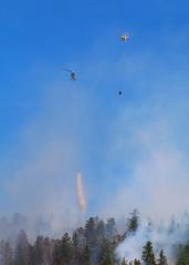 Tag team (bradlebedoff) Tags: canada mountains canon fire britishcolumbia forestfire helicopters 70200 penticton choppers wildfire 70d explorebc explorecanada
