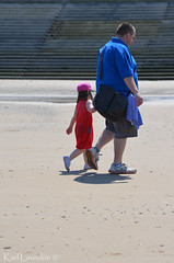 Granda & Ellie (karllaundon) Tags: family sea summer sun cute beach fun happy seaside day child laugh northeast rockpool redcar